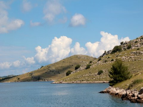 Nationale park Kornati, View of islands