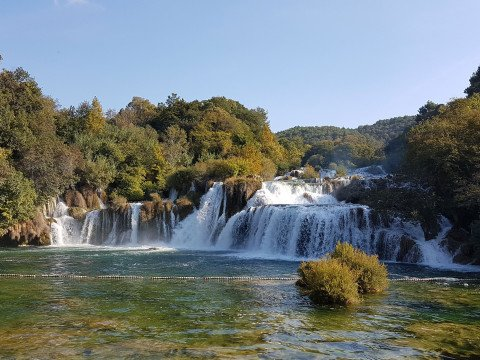 Krka lakes, Waterfalls