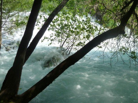 Krka lakes, Rough water stream