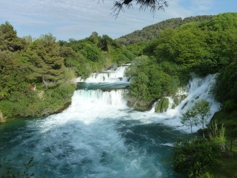 Krka lakes, The main waterfall